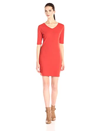 a3dfbd10f2e Doublju Sexy Slim Fitted Ribbed Knit Bodycon Dress For Women With Plus Size  ORANGE SMALL