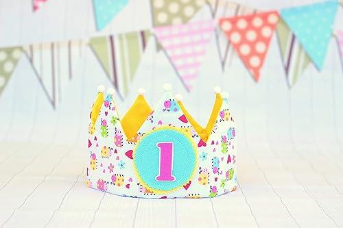 Corona de tela para cumpleaños niña decoración de fiesta ...