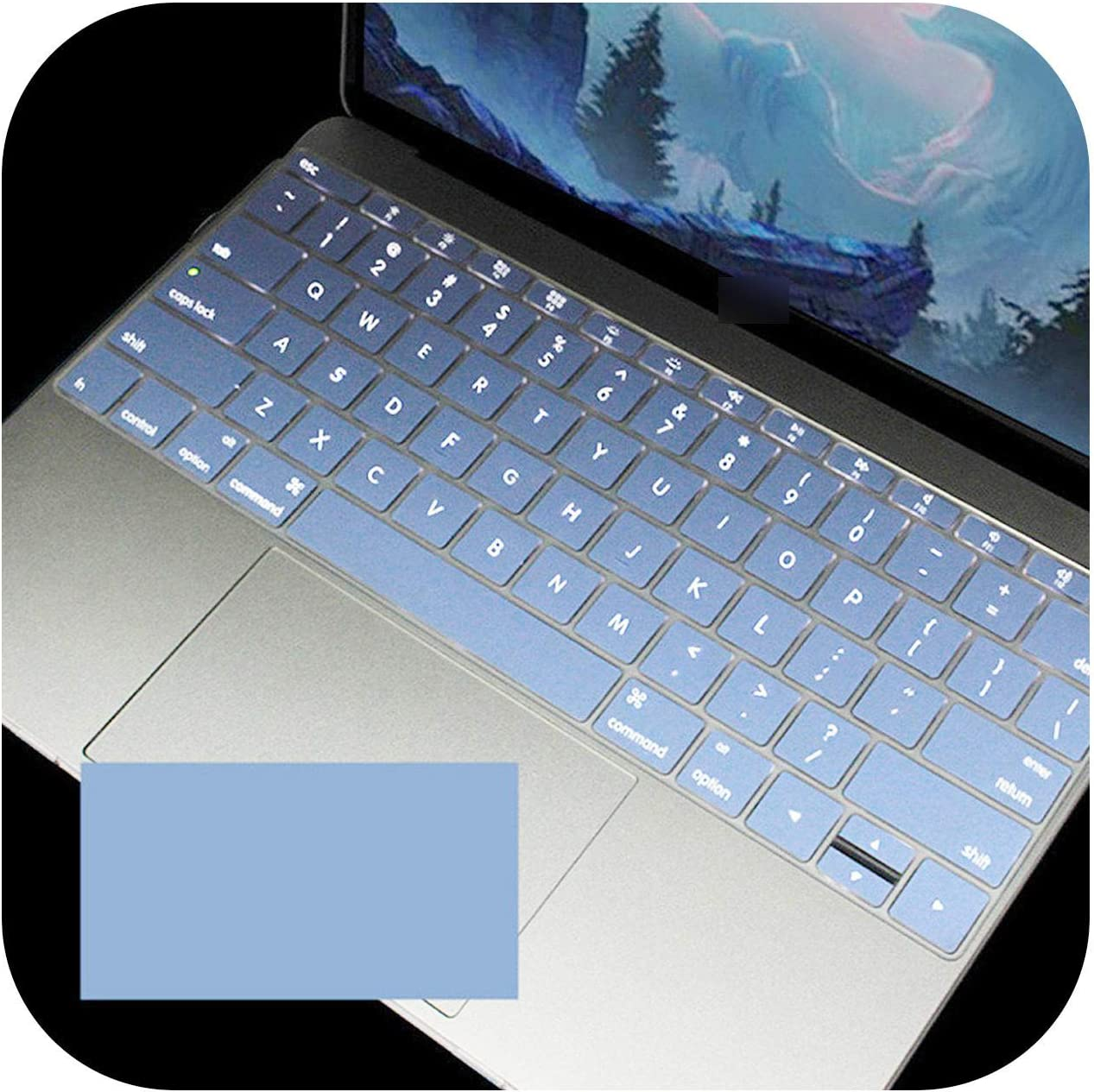Colorful Silicone Keyboard Cover Protector Skin for MacBook Air 11 Soft Keyboard Stickers-Purple