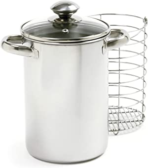Norpro 573 Stainless Steel Vertical Cooker/Steamer, 3 Piece Set, 10in/25.5cm, as shown