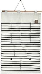H/ängeorganizer Wandh/änger 70 x 45 cm schwarz Streifen mit Taschen Ordnungssystem