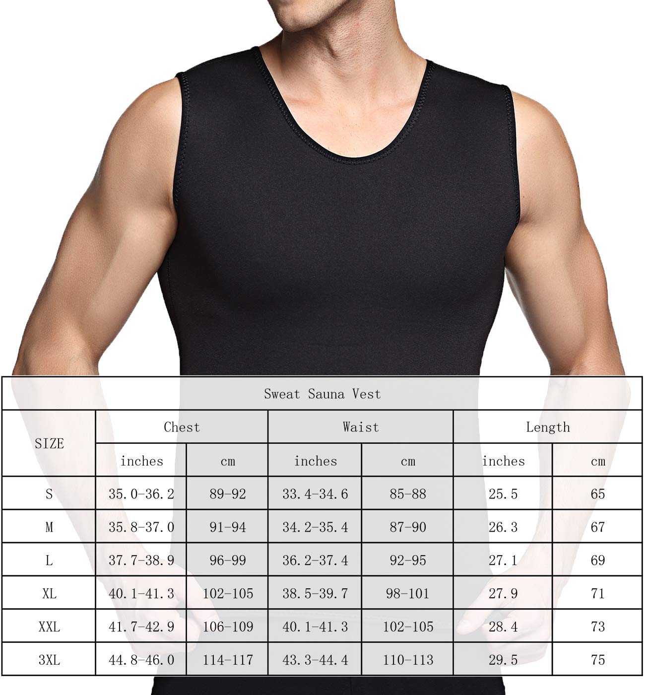 5c21abf00ebbe SETENOW Men s Hot Sweat Body Shaper Tummy Fat Burner Tank Top Slimming Vest  Weight Loss Shapewear larger image