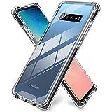 ProCase Galaxy S10 Case, Slim Hybrid Crystal Clear TPU Bumper Cushion Cover with Reinforced Corners, Transparent Scratch Resi