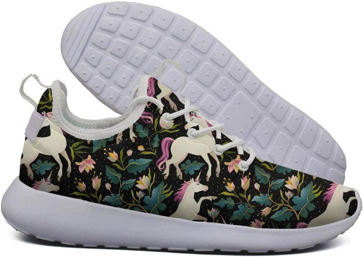 LOKIJM - Zapatillas de Running para Mujer, diseño de Unicornio mágico, Color Negro y Rosa: Amazon.es: Deportes y aire libre