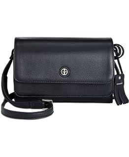 d3912fb6e Giani Bernini Womens Kilty Leather Flap Crossbody Handbag Purple ...