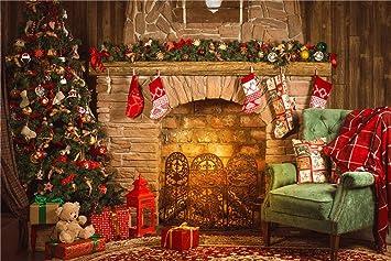 daniu christmas background photo fireplace studio vinyl chair photography backdrops 7x5ft daniu christmas124