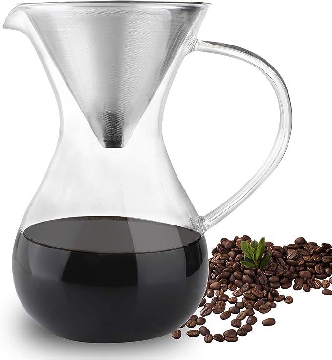 Amazon.com: Phyismor - Cafetera con filtro de acero ...