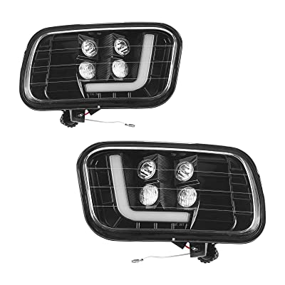 Tecoom LED Fog Light Assemblies for 2009-2012 Dodge Ram 1500/2500/3500 Pair Left and Right Side 2psc with LED Bulbs: Automotive