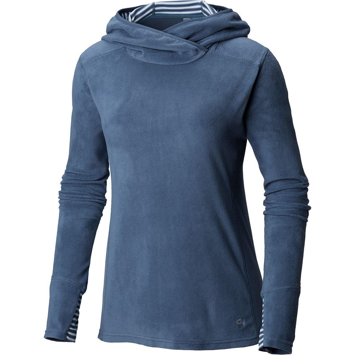 Mountain Hardwear Microchill Lite Hooded Fleece Pullover - Women's Zinc, M