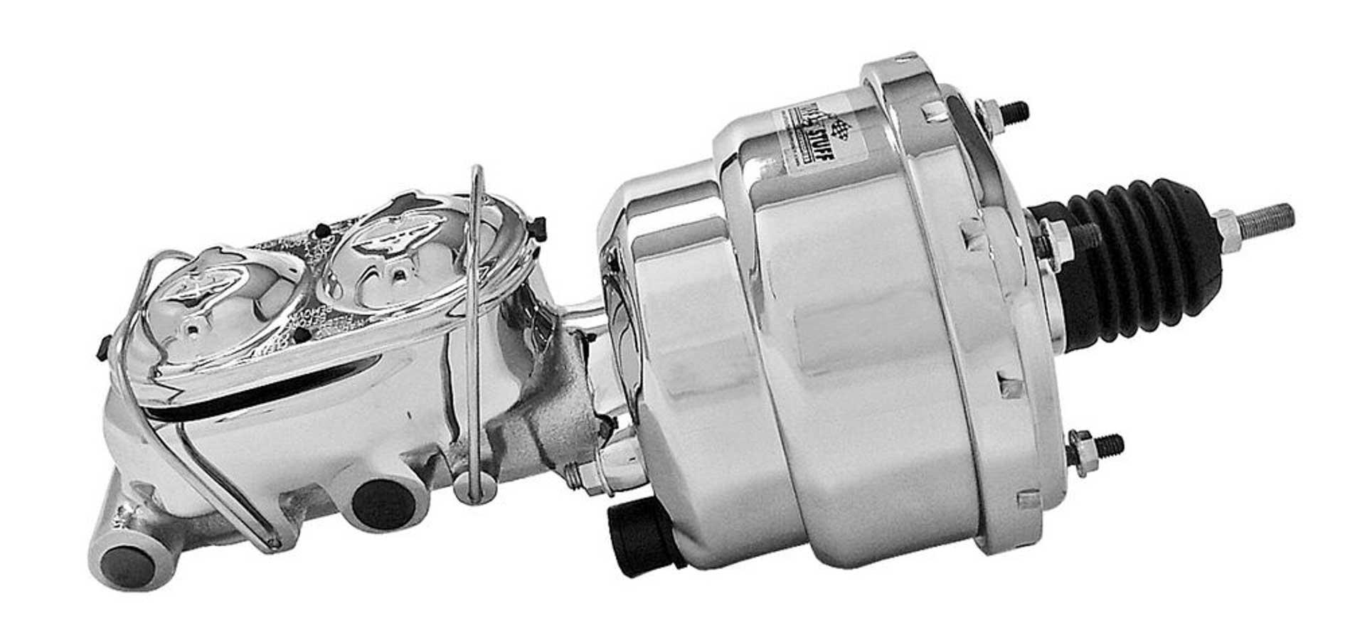 Tuff Stuff 2122NA1 7'' Chrome Brake Booster with 2020NA Master Cylinder