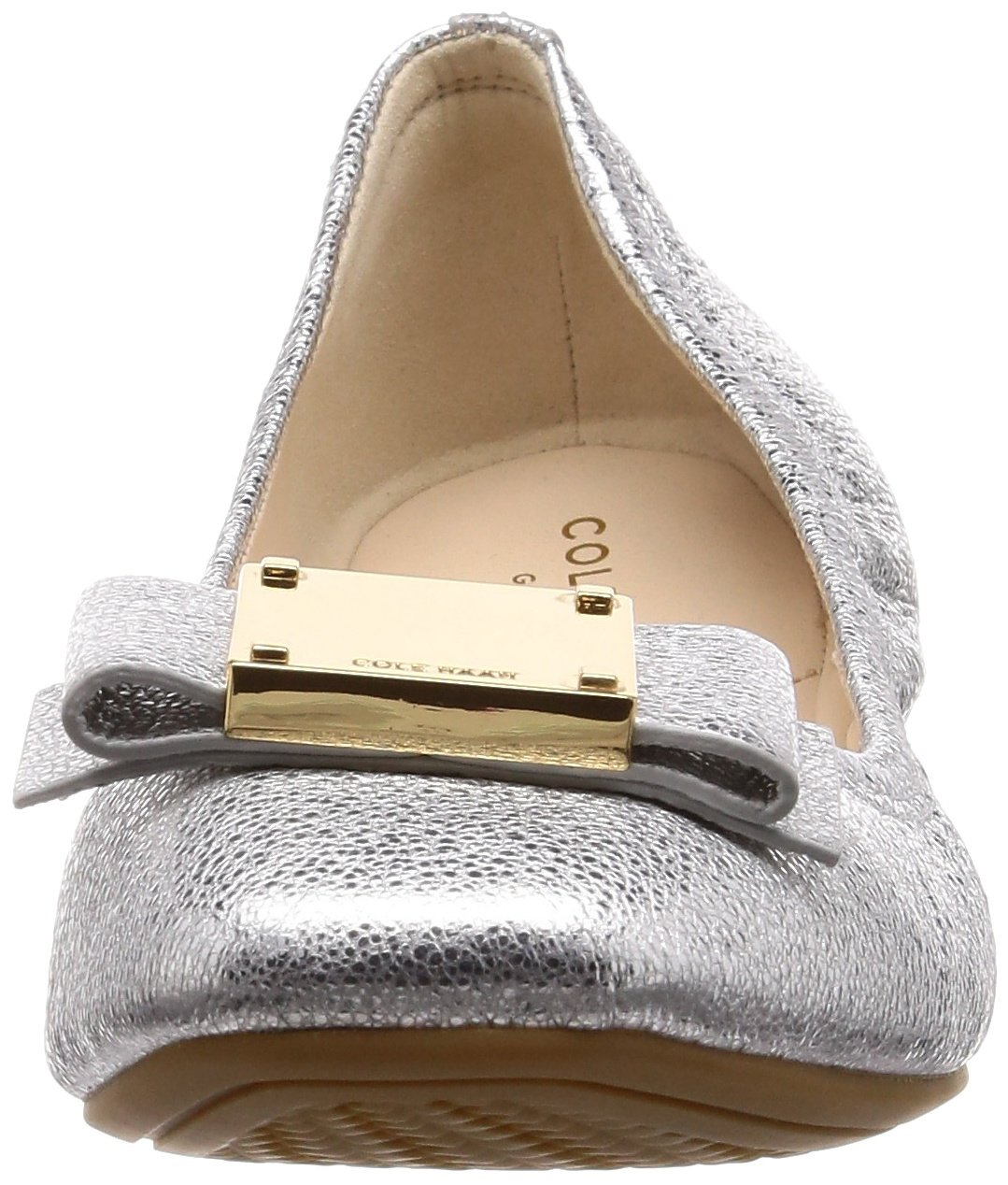 Cole Haan Womens Tali Modern Bow Ballet B07BB14P26 8.5 AA US|Silver Crackle Metallic