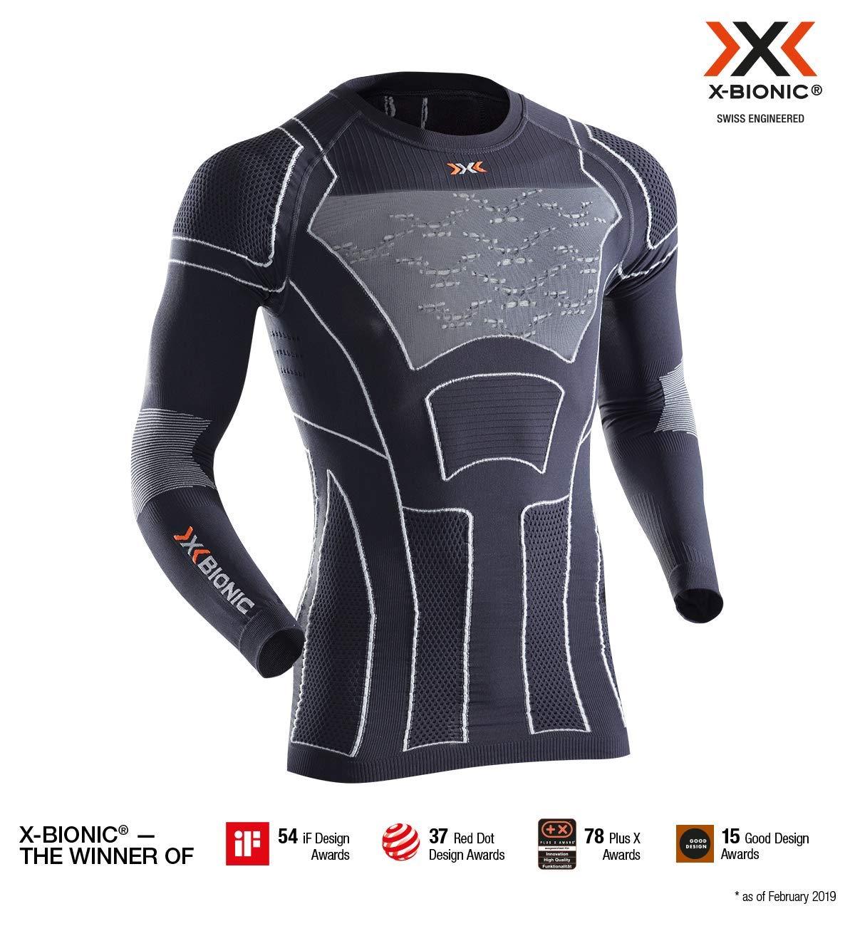 Charcoal Pearl gris XXL X-Bionic Moto Energizer 4.0 lumière manche longue Hommes Chemise Homme