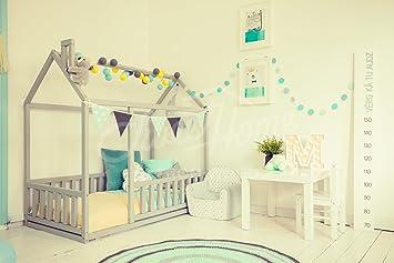 Lit Maison Lit Montessori Lit Cabane Pour Matelas 190x90cm Amazon