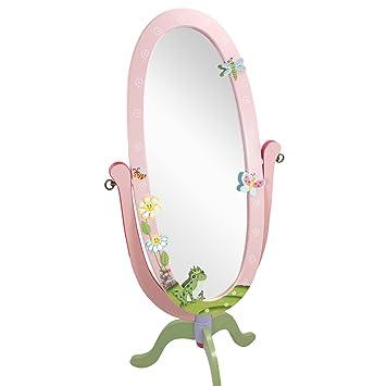 Miroir sur pied inclinable bois décoration intérieur chambre enfant bébé  W-8968A
