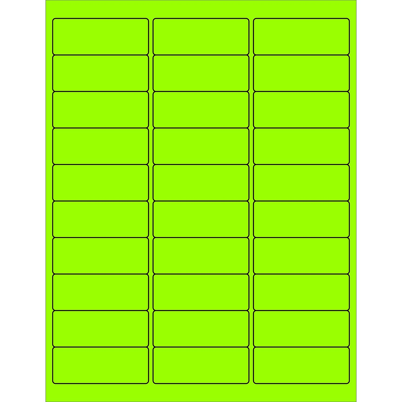 Pack of 2400 1.67 Width Aviditi LL196OR Tape Logic Fluorescent Circle Laser Labels 1 2//3 Fluorescent Orange