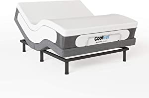 Classic Brands Cool Gel Memory Foam 14-Inch Mattress with Two Bonus Pillows and Adjustable Comfort Adjustable Bed Base, King