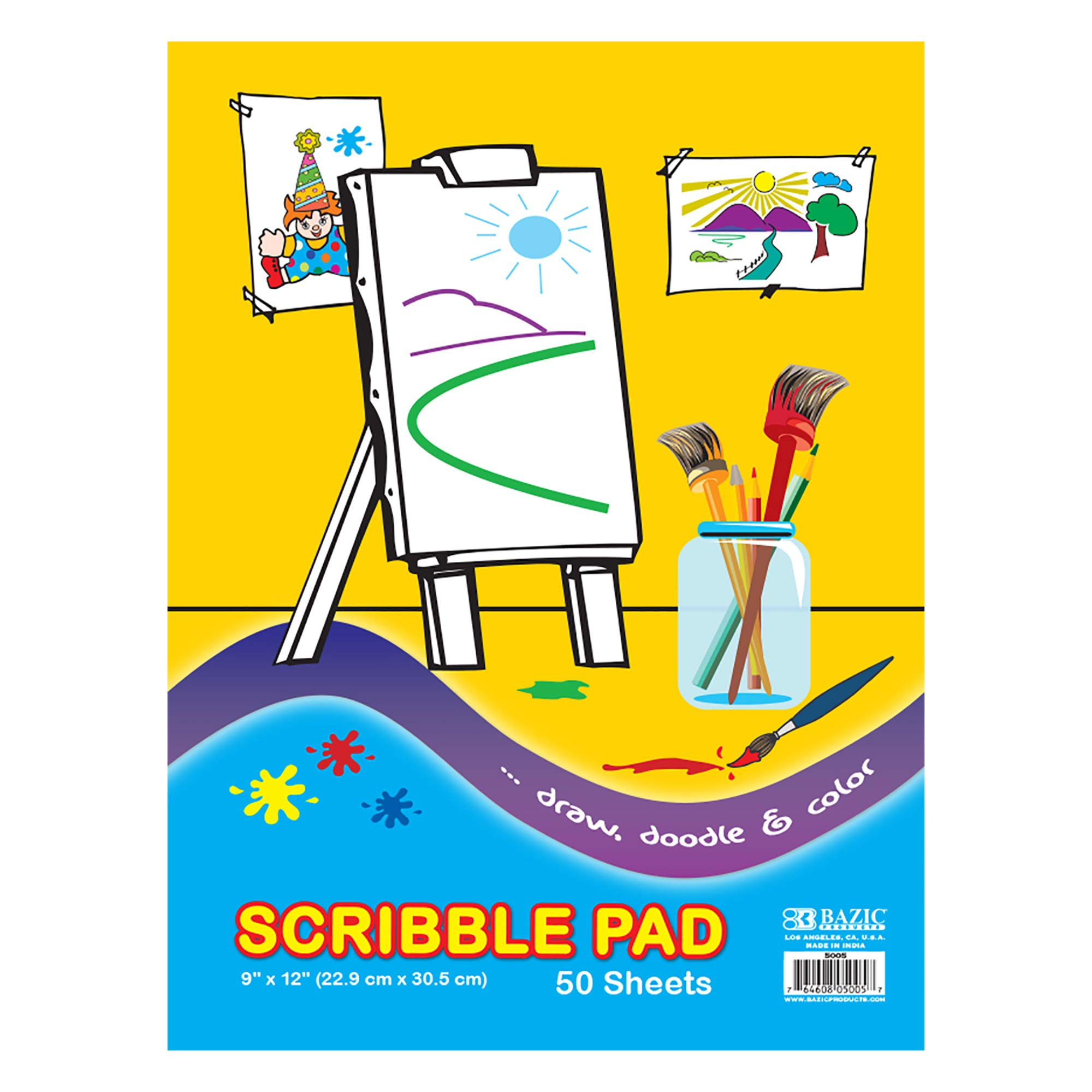 BAZIC 50 Ct. 9'' X 12'' Scribble Pad (Case of 48) by B BAZIC PRODUCTS