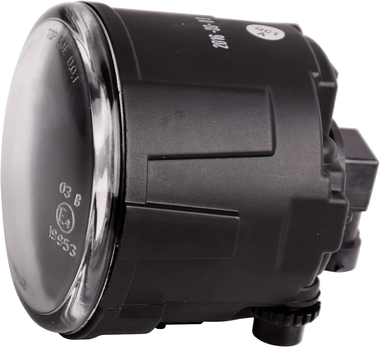 261508999B Fog Lights Replace Infiniti EX35 FX35 G25 M37 Nissan Cube Juke Quest Versa Rogue with Clear Lens Fog Lamps with Bulbs OE Part # 261508993B 261508998B