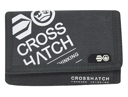 Crosshatch - Cartera para hombre, con tarjetero, triple plegado gris Affluence-Magnet