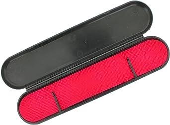 Pack de 50 estuches para relojería y/o joyería - Estuche plano negro (24,5 x 6 x 2 cm): Amazon.es: Relojes