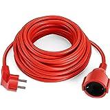 Simbr Cable alargador de corriente IP20 H05VV Alargador cable de gran calidad 10m 15m 20m 30m Color rojo (10m)