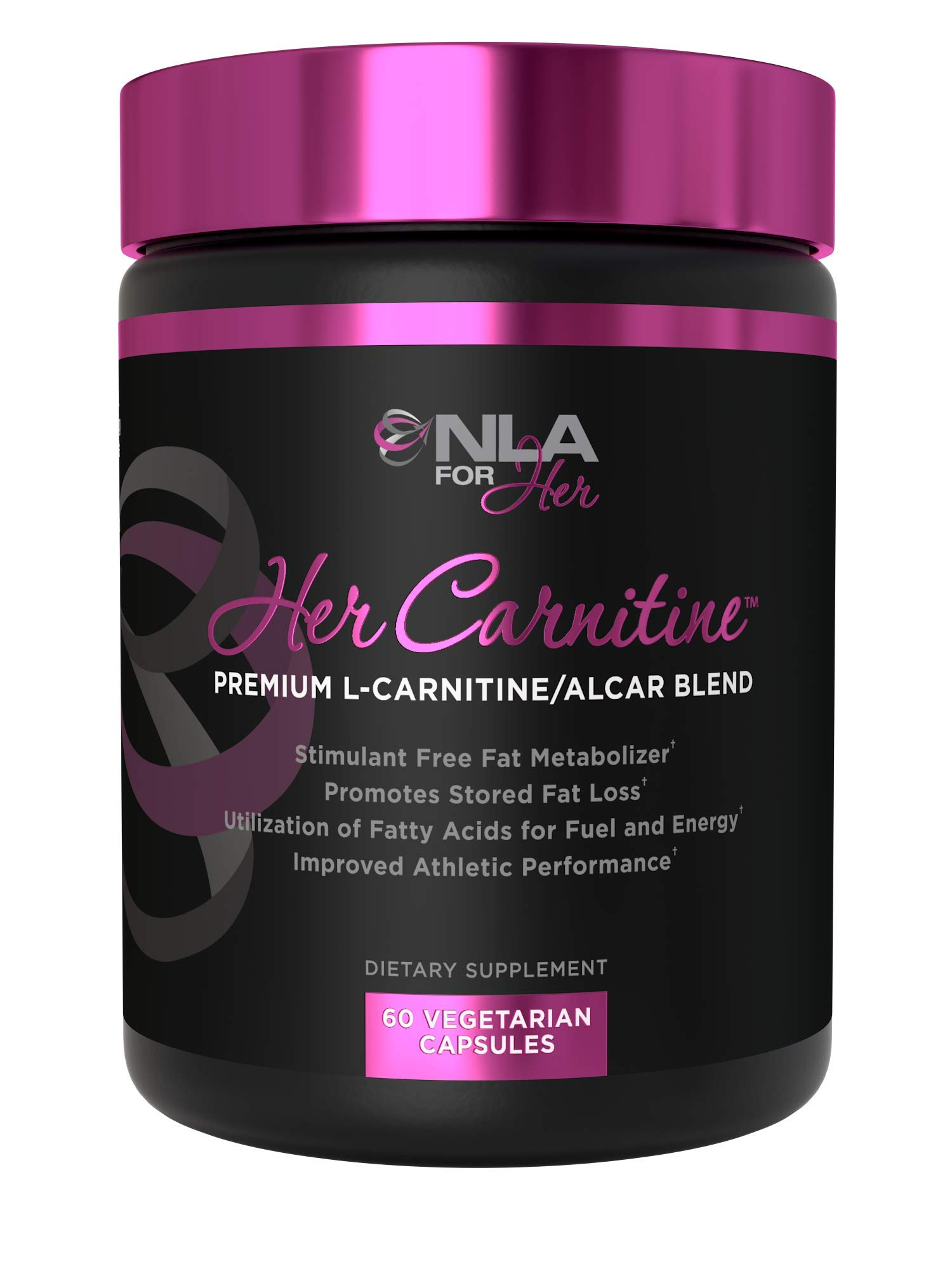NLA for Her - Her Carnitine - Premium L-Carntine/ALCAR Blend - Supports Fat Loss (Stimulant Fee), Improved Athletic Performance & Provides Fuel and Energy - 60 Capsules by NLA for Her