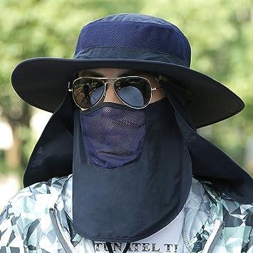 eff121ae0e888 Gorra De Pesca para Hombre Sun Hat Summer Gorra De Sol para Sol Respirable  Al Aire Libre Protección UV para El Sol Sombrero De Pescador  Amazon.es   Hogar