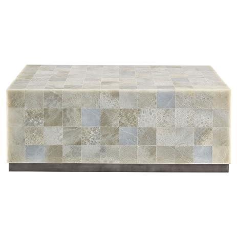 Trumbull Modern Global Stone Tile Coffee Table