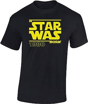 Star Was Born 1980 - Regalo de cumpleaños para Hombre-s y Mujer-es - 40 años - Cuarenta - Cuadragésimo - Camiseta Divertida - Fun-Shirt - Humor - ...