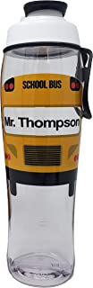 product image for Bus Driver Water Bottle - BPA-Free Reusable Bottle - Chug Cap & Carry Loop - Great Gift for Bus Drivers, Appreciation, Thank You, Christmas Gifts, End of School Thanks (Custom - 30 oz., 30 oz.)