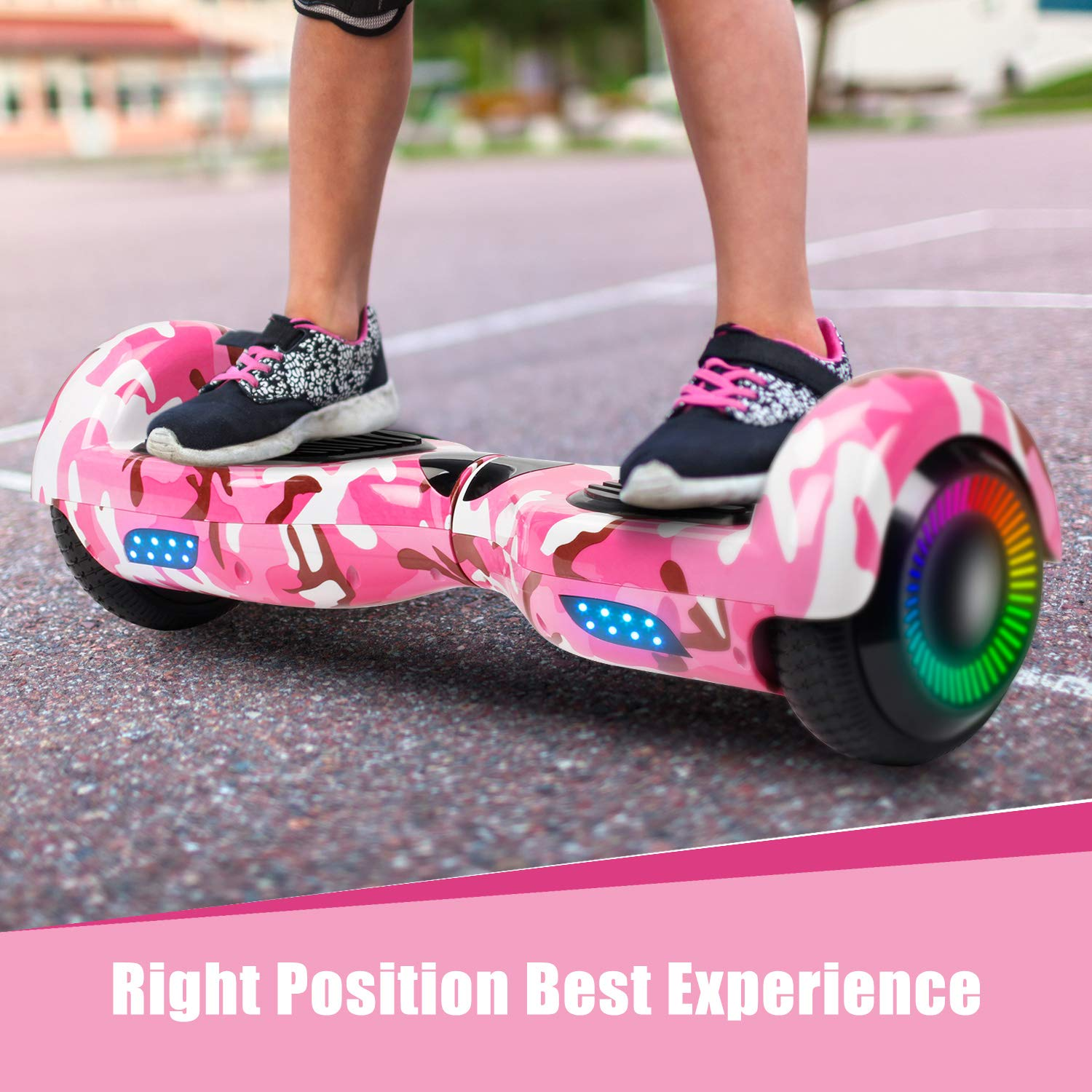 SWEETBUY Hoverboard Two-Wheel Self Balancing Electric Scooter UL 2272 Certified,6.5 inch Self Balancing Scooter with Carry Bag(Blue) by SWEETBUY (Image #7)