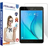 "CELLBELL® Tempered Glass Screen Protector For Samsung Galaxy Tab A(8.0"") SM-T350/T355 With FREE Installation Kit"