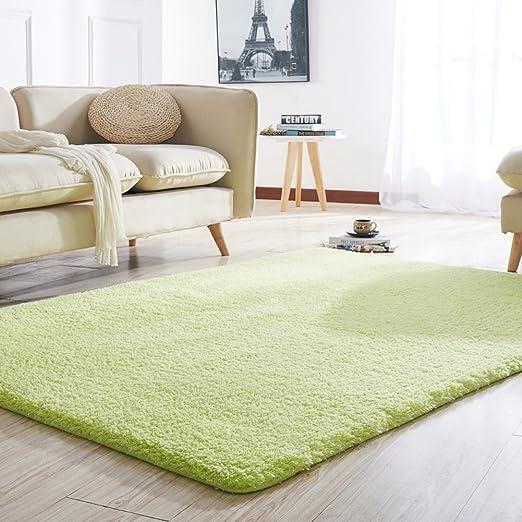 Rectangle Large Area Rug for Living Room,Fluffy Bedside Rug Not-Slip Floor Mat,Cozy Shaggy Carpet for Living Room Bedroom Nursery Beige 80x160cm//31x63inch