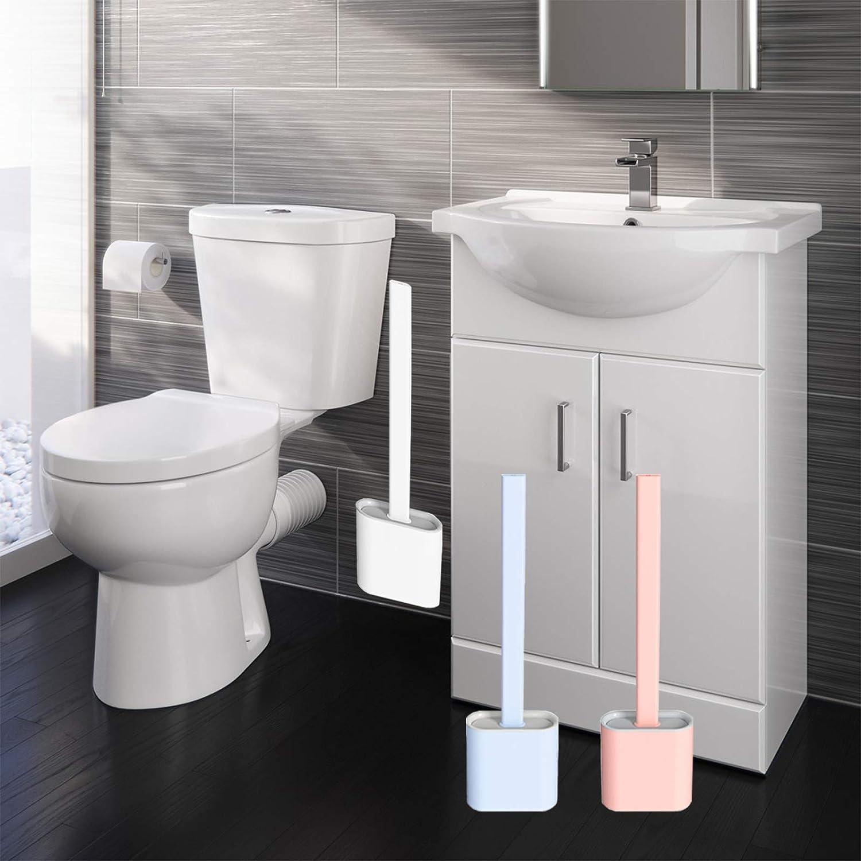 Blanc Yuanyiheng Brosse de Toilette Brosse WC Brosse de Toilette en Silicone,Tr/ès appropri/é pour Les Coins et Les Petits espaces Entre Les Toilettes et Le Mur