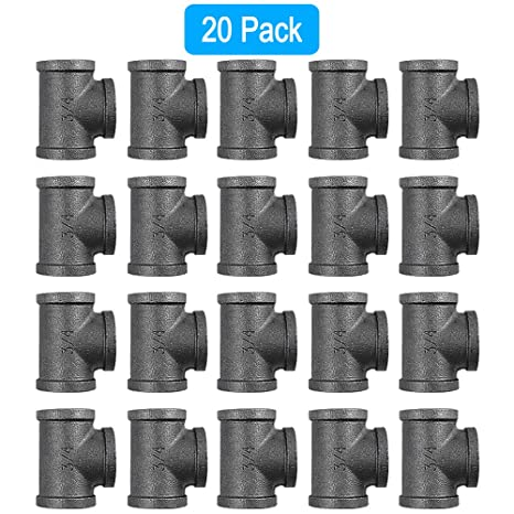 Pleasant Goovi 3 4 Inch Tee Pipe Fitting Black Pipe Threaded Pipe Nipples Cast Pipe Fittings Industrial Piping Tees For Plumbing Pipe Shelf And Diy Creativecarmelina Interior Chair Design Creativecarmelinacom