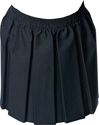 0a5d0a755 Only Uniform Box Pleat Girls School Skirts Elasticated Waist Schoolwear  Skirt UK: Amazon.co.uk: Clothing