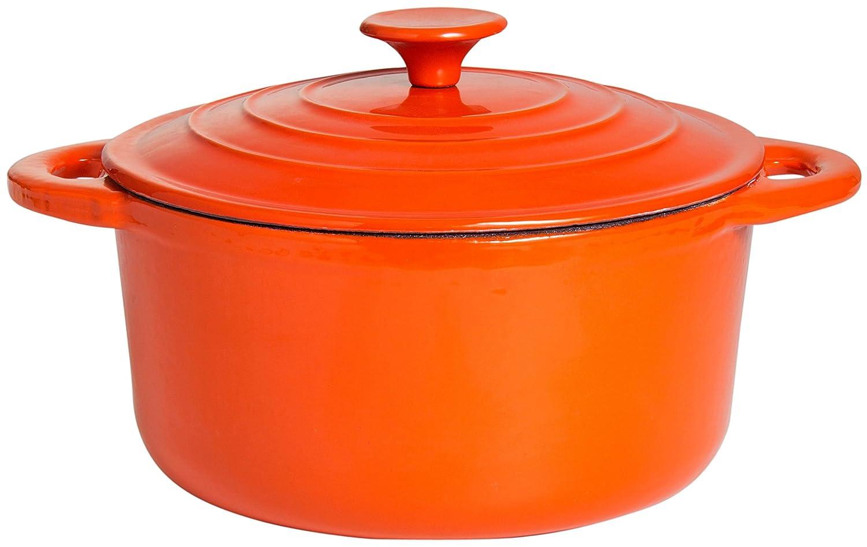 orange//wei/ß emailliert PaellaWorld 9715 Topf aus Gusseisen /ø 24 cm
