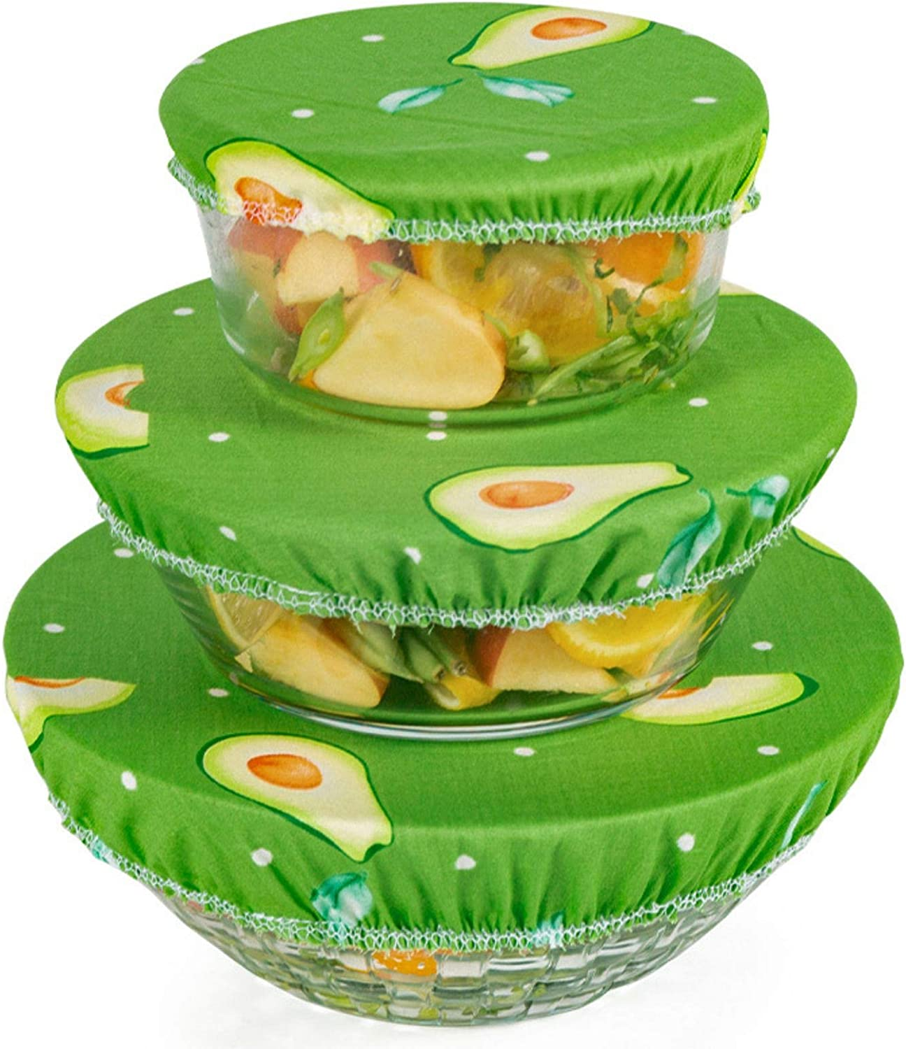 3Pcs Reusable Bowl Covers, Press and Seal Wrap, Stretch and Fresh Containers, Food Covers for Outside, Fresh Keeping Bowl Cover, Bowl Cover to Prevent Dust from Falling Into the Bowl