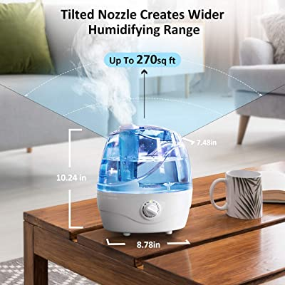 VicTsing Cool Mist Humidifier, Ultrasonic Humidifiers for Bedroom Baby