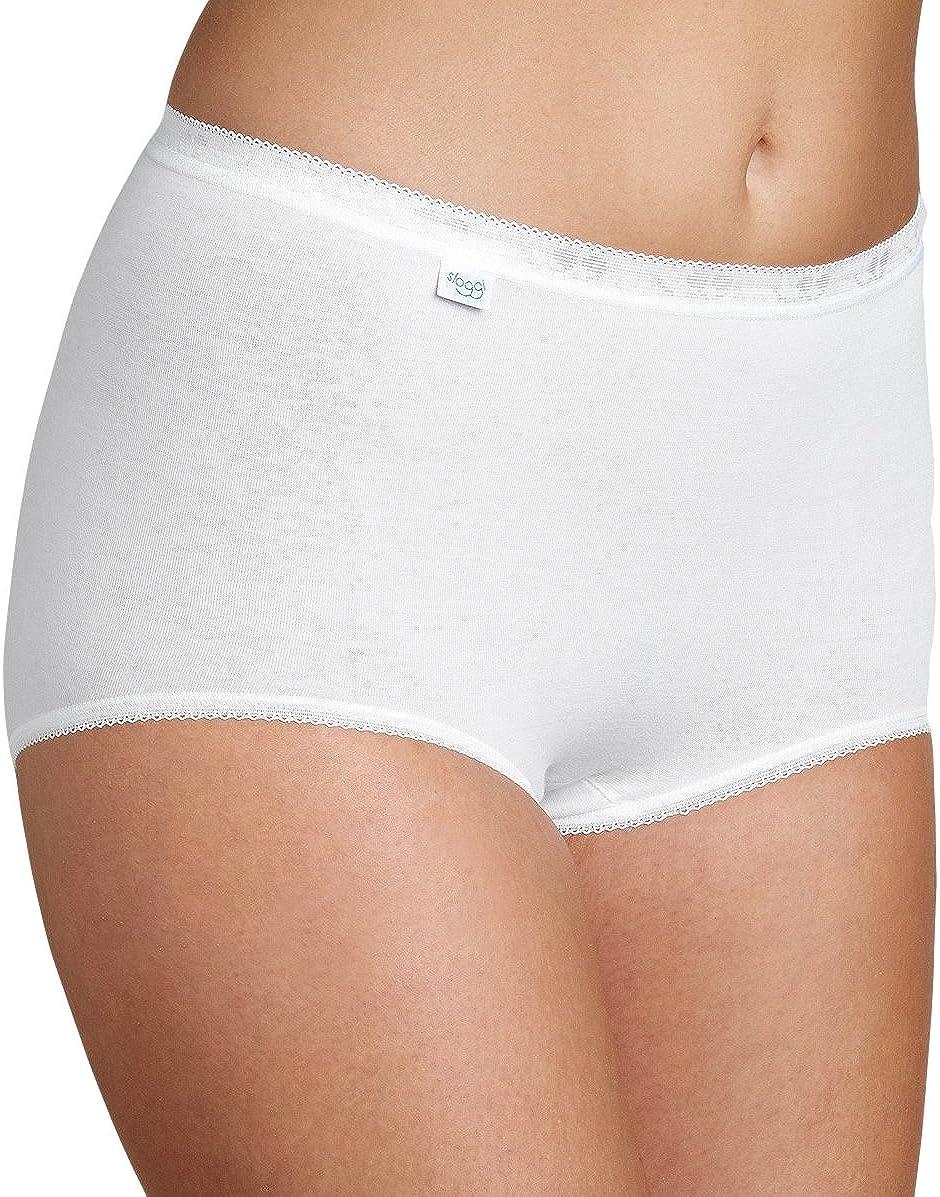 Sloggi 1 Slip Donna Basic Maxi Alto Cotone Bianco E Nero Misure 2 3 4 5 6 7 8 9