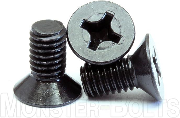 M6-1.0 x 8mm Qty 10 Phillips Pan Head Machine Screws DIN 7985 A Black Ox