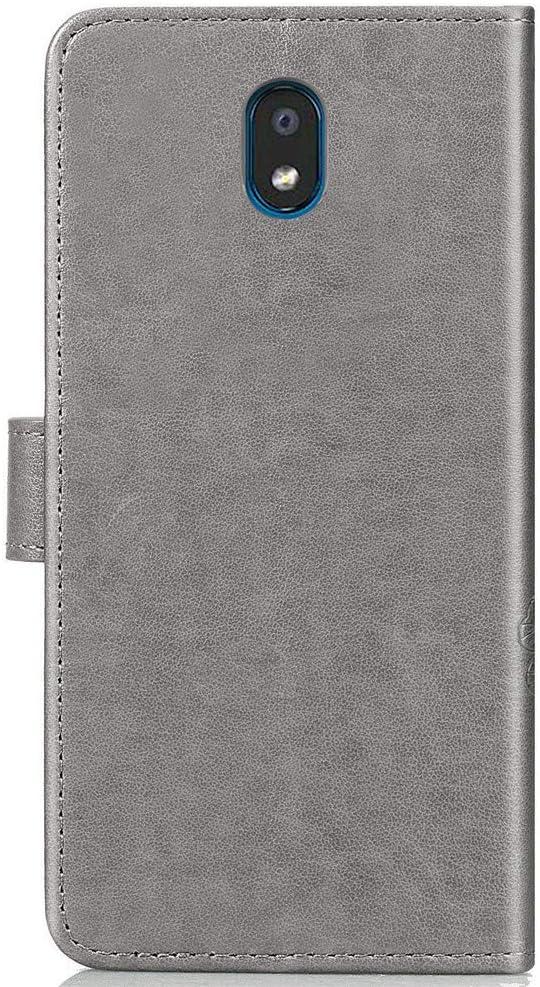 COTDINFOR Funda para LG K30 2019 Funda Protectora Efecto 3D Pintada de Piel Premium PU Shell con Magn/ético Cierre Titular de la Tarjeta Carcasa para LG K30 2019 Cute Husky Bx.