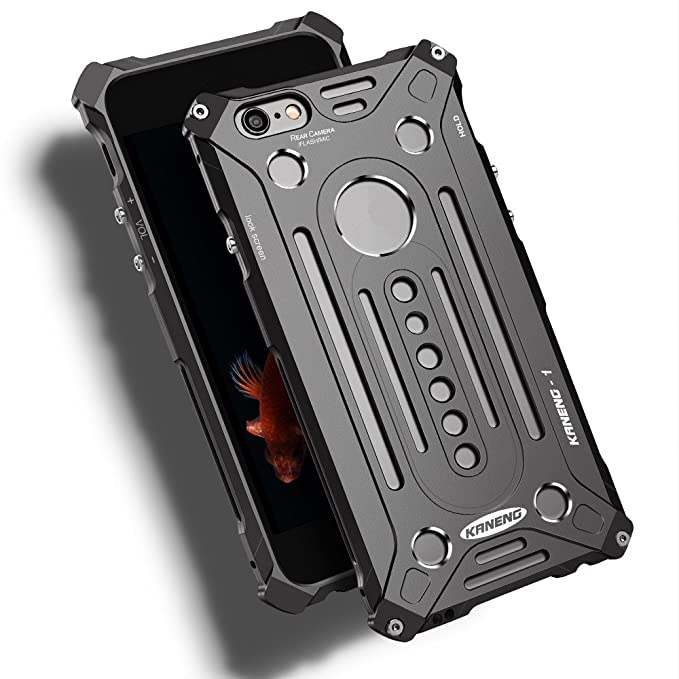 save off 4dffd d0a52 Kaneng Luxury Outdoor Dropproof Shockproof Aluminum Metal Back Cover Case  for Iphone 6s Plus 5.5 Inch Sport Climbing Bumper Shell for Apple 6 Plus ...