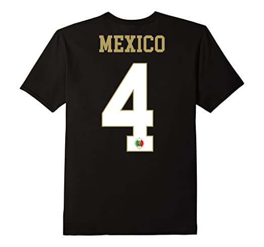 Amazon.com: Mexico Shirt Number 4 + BACK Soccer Team Futbol Mexican Flag: Clothing
