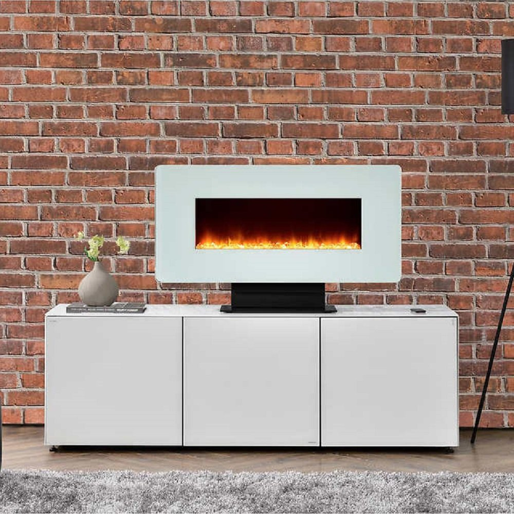 kenna 35 in wallmount electric fireplace white amazon ca home
