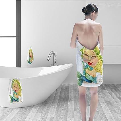Nalahomeqq Bath Towel Set Astrology Decorations Baby Pisces Symbol Holding  Fish Nemo Horoscope Collection Venus Little