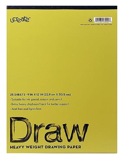 amazon com u create drawing pad 12 x 9 acid lignin free 75