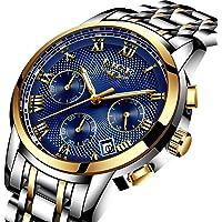 Relojes De Hombre Deportivos Clásicos Militar Especiales Marea Moda Acero Inoxidable Plateado Lujo Calendario Analógicos Reloj