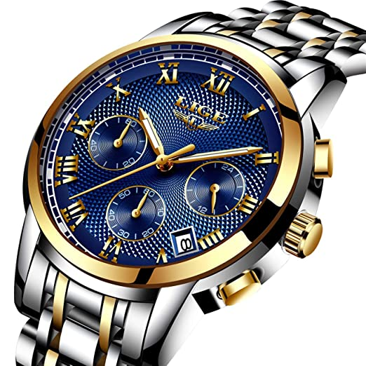 Relojes De Hombre Deportivos Clásicos Militar Especiales Marea Moda Acero Inoxidable Plateado Lujo Negro Oro Azul Calendario Analógicos Reloj De Pulsera ...