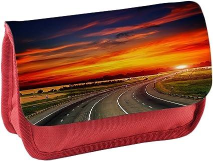 Paisajes 149, puesta del sol, Rojo Escuela Niños Sublimación Alta calidad Poliéster Estuche de lápices con Diseño Colorido. 21x13 cm.: Amazon.es: Oficina y papelería